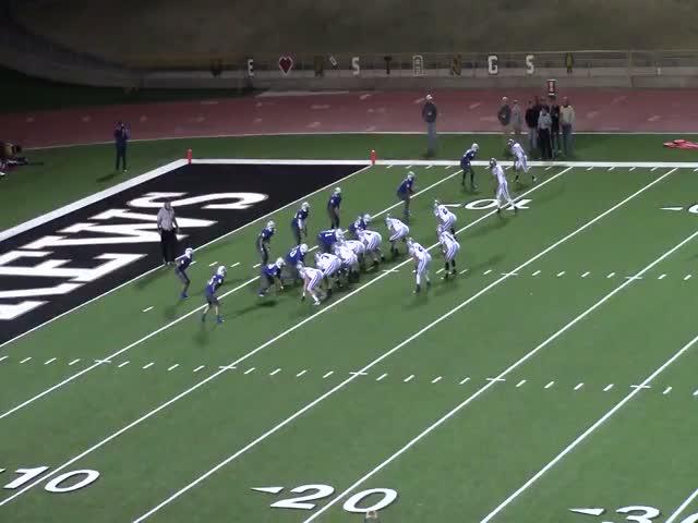 Brett Taff playing football against Lake View High during the 2013-2014  Season for Randall High School in Amarillo, TX
